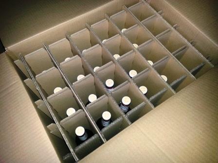 Bier deugdelijk verpakt in doos