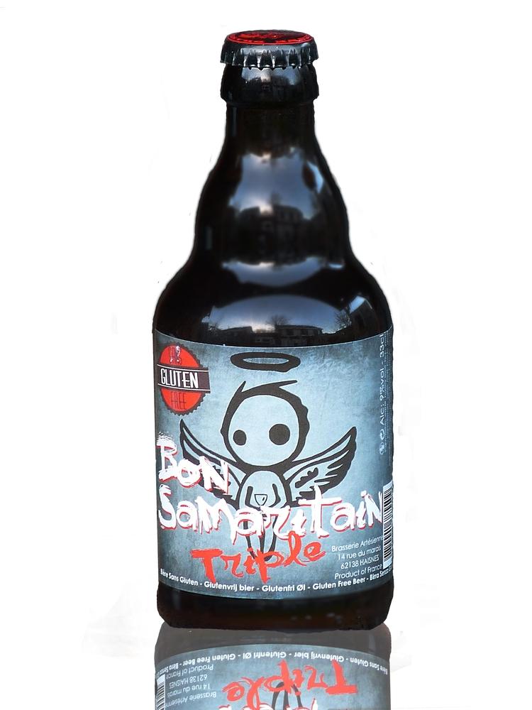 Bon Samaritain Triple -  een nieuw etiket en een nieuwe fles voor dit glutenvrije bier