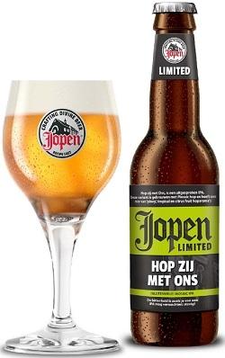 Jopen Hop zij met ons -  het eerste glutenvrije bier van Jopen Bier uit Haarlem